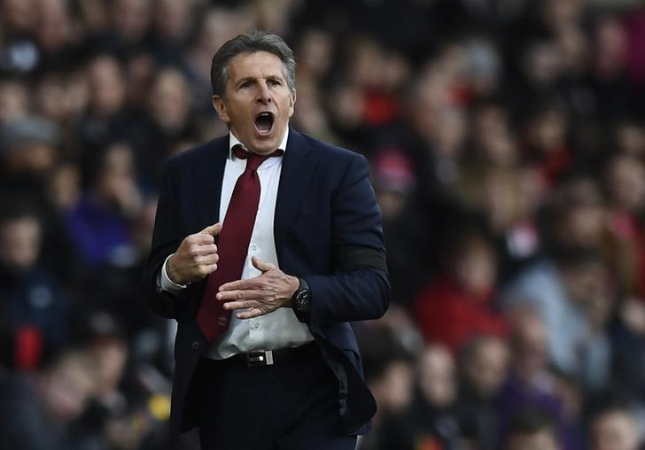 Britain Soccer Football - Southampton v AFC Bournemouth - Premier League - St Mary's Stadium - 1/4/17 Southampton manager Claude Puel  Reuters / Dylan Martinez Livepic