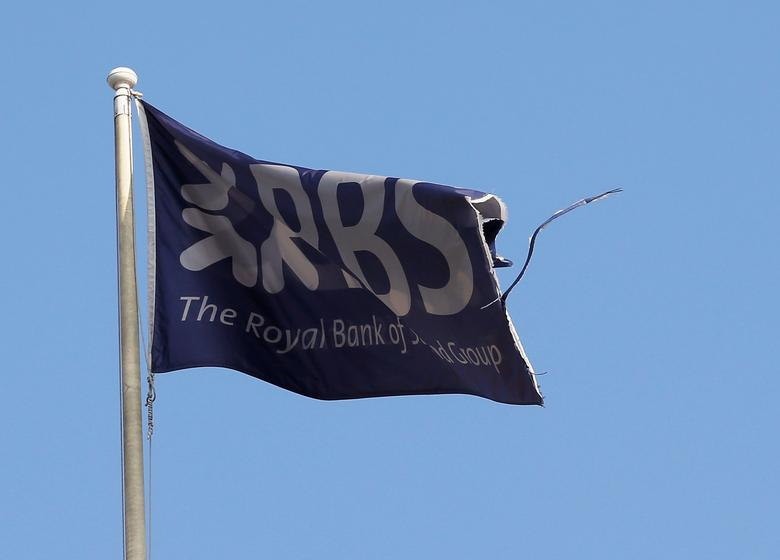 FILE PHOTO: A flag flies above the head office of the Royal Bank of Scotland (RBS) in St Andrew Square in Edinburgh, Scotland, Britain, September 11, 2014.   REUTERS/Russell Cheyne/File Photo