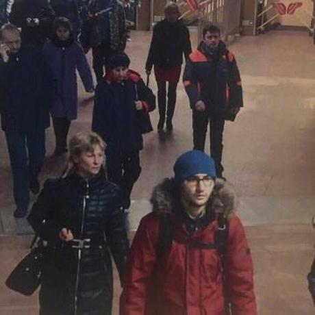 A still image of suspect Akbarzhon Jalilov walking at St Petersburg's metro station is shown in this police handout photo obtained by 5th Channel Russia April 4, 2017. 5th Channel Russia/via Reuters