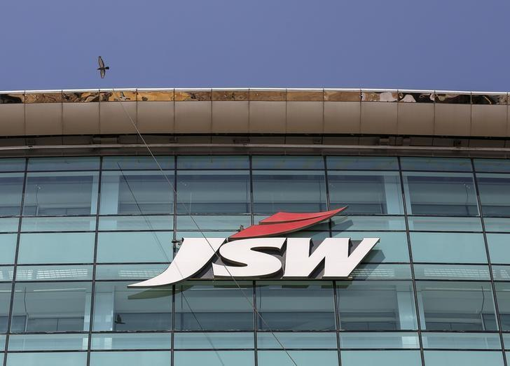 The logo of JSW is seen on the company's headquarters in Mumbai, India, February 11, 2016. REUTERS/Danish Siddiqui/Files