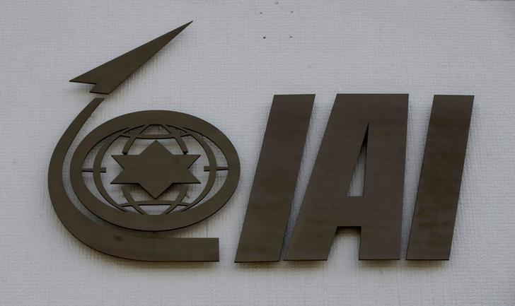 The logo of state-owned Israel Aerospace Industries (IAI), the country's biggest defence contractor, is seen at their offices next to Ben Gurion International airport, near Or Yehuda, Israel February 27, 2017. Picture taken February 27, 2017. REUTERS/Baz Ratner/Files