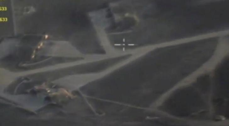 The Syrian Shayrat Air Base is seen in this still image taken from undated handout video. Russian Defence Ministry/Handout via REUTERS