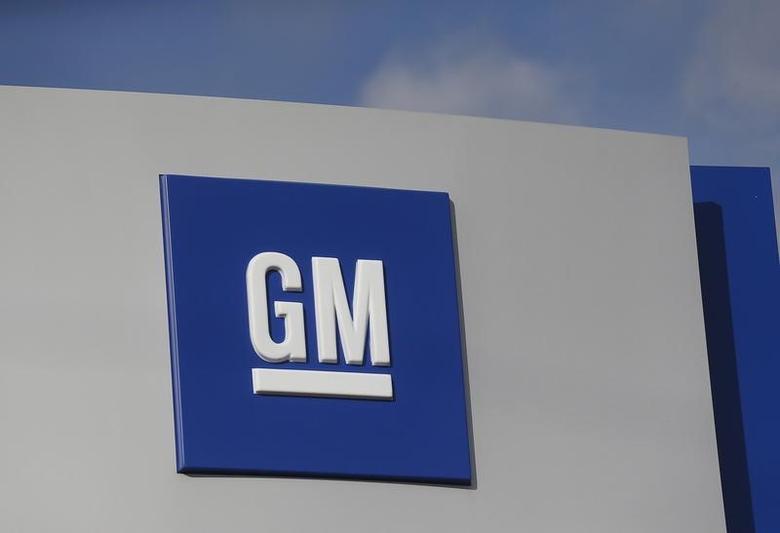 The GM logo is seen at the General Motors Warren Transmission Operations Plant in Warren, Michigan October 26, 2015. Photo taken October 26.   REUTERS/Rebecca Cook/Files