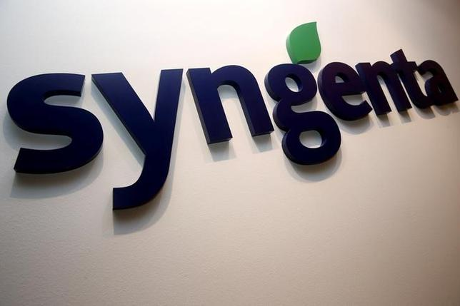 FILE PHOTO -  A Syngenta logo is pictured in their office in Singapore, February 12, 2016.  REUTERS/Edgar Su/File Photo