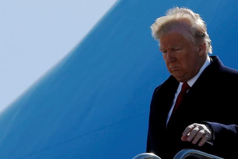 U.S. President Donald Trump in Detroit, Michigan, U.S., March 15, 2017. REUTERS/Jonathan Ernst