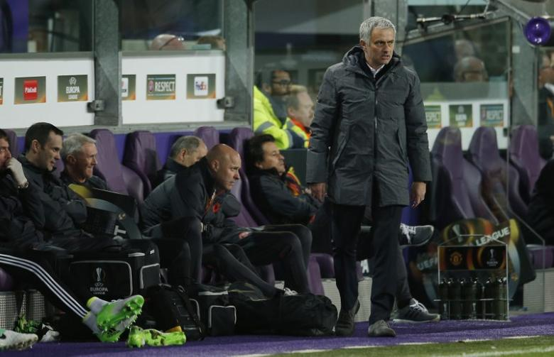 Football Soccer - RSC Anderlecht v Manchester United - UEFA Europa League Quarter Final First Leg - Constant Vanden Stock Stadium, Brussells, Belgium - 13/4/17 Manchester United manager Jose Mourinho Action Images via Reuters / Andrew Couldridge Livepic