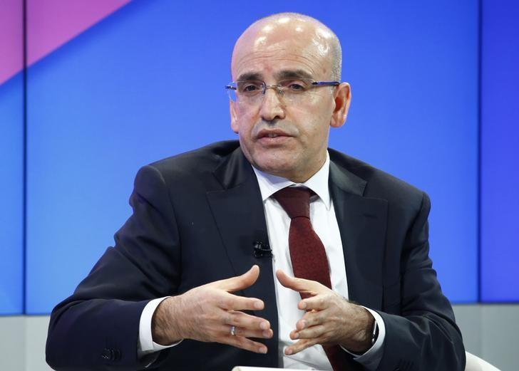 FILE PHOTO: Mehmet Simsek, Deputy Prime Minister of Turkey attends the World Economic Forum (WEF) annual meeting in Davos, Switzerland January 19, 2017.  REUTERS/Ruben Sprich