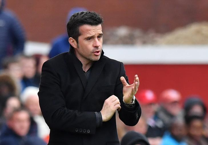 Britain Soccer Football - Stoke City v Hull City - Premier League - bet365 Stadium - 15/4/17 Hull City manager Marco Silva  Reuters / Anthony Devlin Livepic