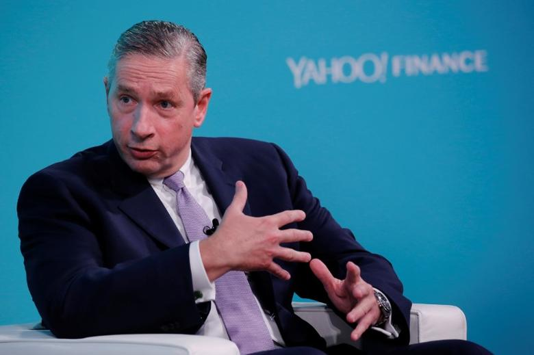 Klaus Kleinfeld, Chief Executive Officer of Arconic, takes part in the Yahoo Finance All Markets Summit in New York, U.S., February 8, 2017. REUTERS/Lucas Jackson - RTX305S6
