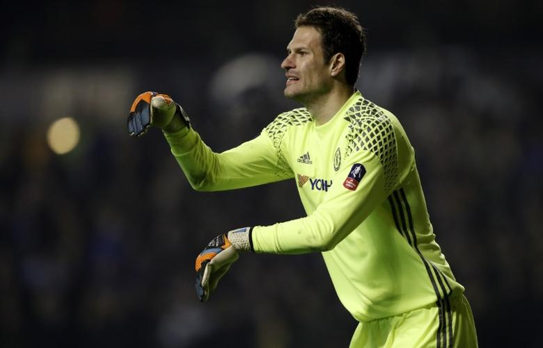 Britain Soccer Football - Wolverhampton Wanderers v Chelsea - FA Cup Fifth Round - Molineux - 18/2/17 Chelsea's Asmir Begovic  Action Images via Reuters / Carl Recine Livepic