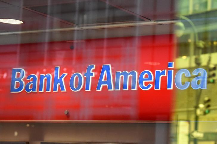 A Bank of America logo is seen in New York City, U.S. January 10, 2017. REUTERS/Stephanie Keith/Files