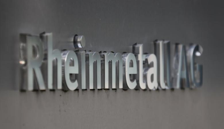 The logo of Germany's Rheinmetall AG is outside the company's headquarters in the western German city of Duesseldorf August 4, 2014. REUTERS/Wolfgang Rattay