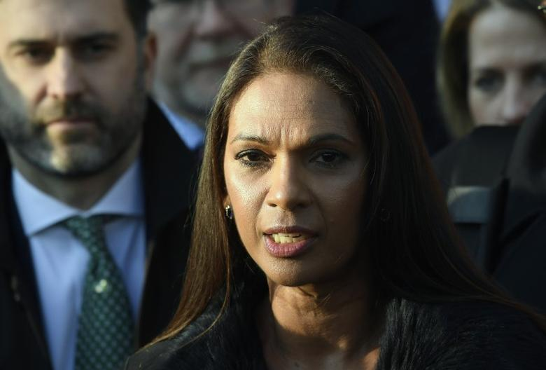 FILE PHOTO: Gina Miller speaks outside the Supreme Court in Parliament Square, central London, Britain, January 24, 2017.   REUTERS/Toby Melville