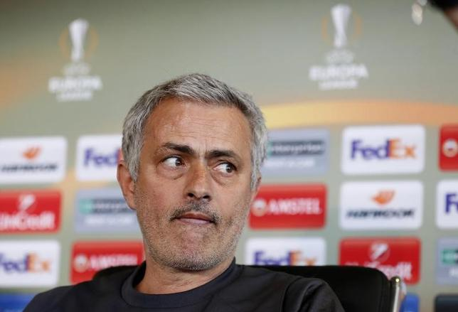 Britain Football Soccer - Manchester United Press Conference - Manchester United Training Ground - 19/4/17 Manchester United manager Jose Mourinho during the press conference Action Images via Reuters / Jason Cairnduff Livepic