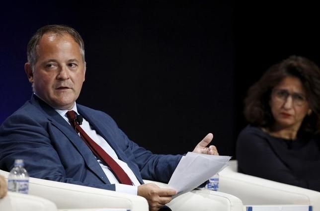 4月19日、ECBのクーレ専務理事はユーロ圏の経済見通しに対するリスクはおおむね均衡しているとの認識を表明した。2015年撮影(2017年 ロイター/Guadalupe Pardo)