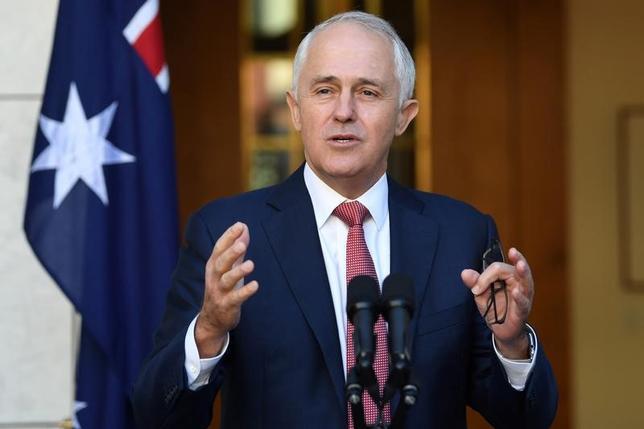 4月20日、オーストラリアのターンブル首相は、市民権の取得要件を厳格化する計画を明らかにした。提供写真(2017年 ロイター)