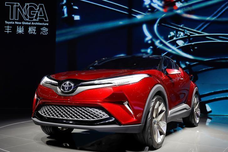 2017年4月19日,中国上海车展,丰田展示的丰巢概念车。REUTERS/Aly Song
