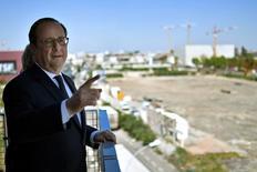 Hollande durante compromisso em Aubervilliers 19/4/2017     REUTERS/Stephane De Sakutin/Divulgação