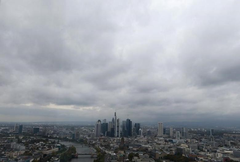 The skyline of the banking district is pictured in Frankfurt, October 21, 2014.  REUTERS/Ralph Orlowski