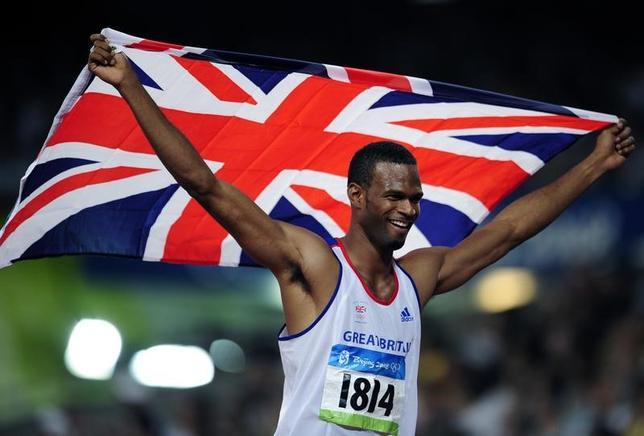 4月20日、2008年北京五輪の陸上男子走り高跳びで銀メダルを獲得したジャーメイン・メイソン氏(英国)が、オートバイの事故で死亡した。写真は2008年北京五輪で銀メダルを獲得した同年8月に撮影(2017年 ロイター/Dylan Martinez)