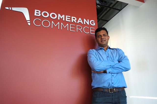 Guru Harihara, the CEO of startup Boomerang Commerce, poses at the company's headquarters in Mountain View, California, U.S. April 21, 2017.   REUTERS/Stephen Nellis
