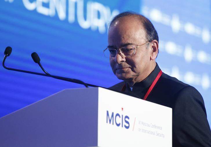 Finance minister Arun Jaitley attends the annual Moscow Conference on International Security (MCIS) in Moscow, Russia, April 26, 2017. REUTERS/Maxim Shemetov