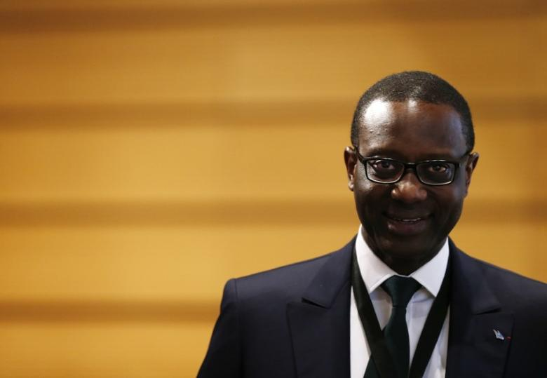 Chief Executive Tidjane Thiam of Swiss bank Credit Suisse attends the Forum 100 conference in Lausanne, Switzerland May 19, 2016. REUTERS/Denis Balibouse