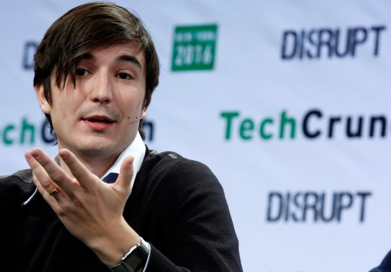 Vlad Tenev, co-founder and co-CEO of investing app Robinhood, speaks during the TechCrunch Disrupt event in Brooklyn borough of New York, U.S., May 10, 2016. REUTERS/Brendan McDermid