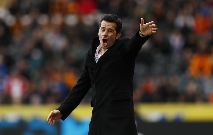 Britain Soccer Football - Hull City v Watford - Premier League - The Kingston Communications Stadium - 22/4/17 Hull City manager Marco Silva  Action Images via Reuters / Jason Cairnduff Livepic