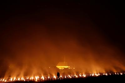 Fighting frost with fire in France's vineyards