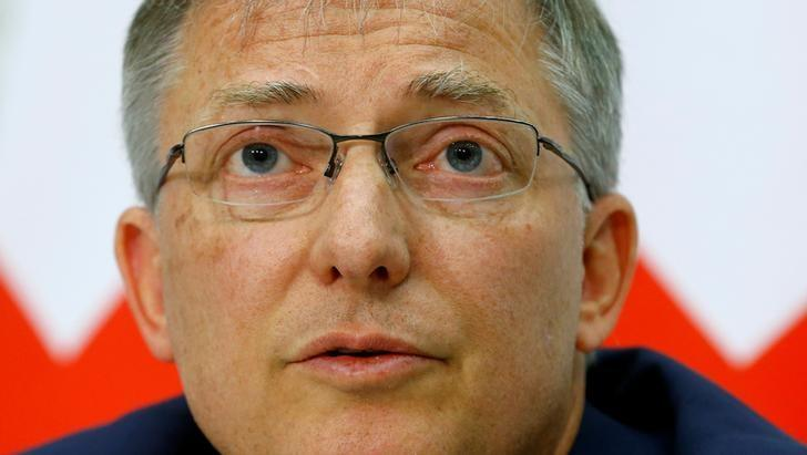 Switzerland's Federal Intelligence Service (NDB) director Markus Seiler addresses a news conference in Bern, Switzerland May 2, 2017. REUTERS/Arnd Wiegmann