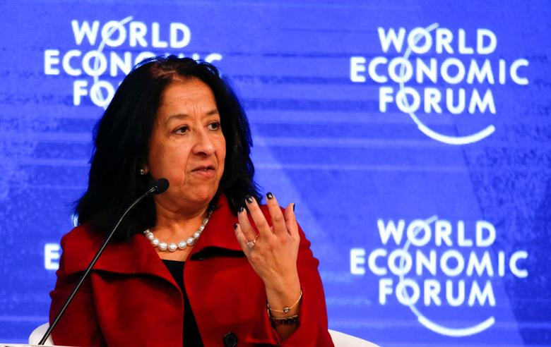 FILE PHOTO: Lubna S. Olayan, Chief Executive Officer and Deputy Chairperson, Olayan Financing Company attends the annual meeting of the World Economic Forum (WEF) in Davos, Switzerland, January 18, 2017. REUTERS/Ruben Sprich