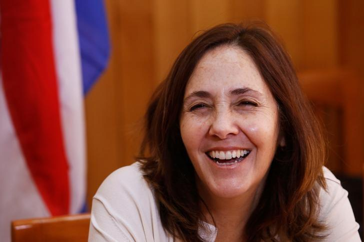 Mariela Castro, director of Cuba's National Center for Sexual Education and daughter of Cuba's President Raul Castro, smiles during a meeting, in Havana, Cuba March 29, 2017. REUTERS/Stringer