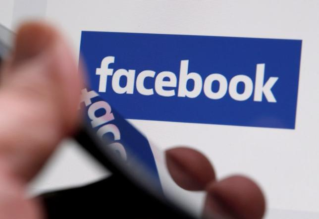 FILE PHOTO: The Facebook logo is displayed on the company's website in an illustration photo taken in Bordeaux, France, February 1, 2017. REUTERS/Regis Duvignau/File Photo