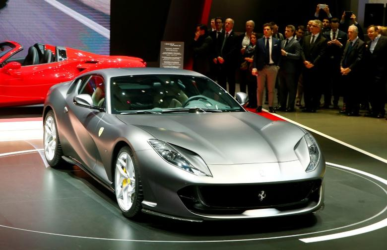FILE PHOTO: A Ferrari 812 Superfast is seen during the 87th International Motor Show at Palexpo in Geneva, Switzerland March 7, 2017. REUTERS/Arnd Wiegmann