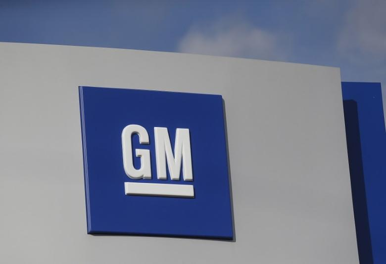 FILE PHOTO: The GM logo is seen at the General Motors Warren Transmission Operations Plant in Warren, Michigan October 26, 2015.  REUTERS/Rebecca Cook