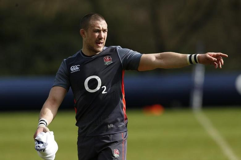 Britain Rugby Union - England Training - Pennyhill Park, Bagshot, Surrey - 7/3/17 England's Mike Brown during training Action Images via Reuters / Andrew Boyers Livepic