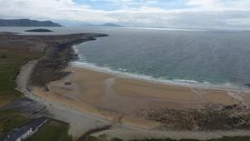 Dooagh beach is seen after a storm returned sand to it, 30 years after another storm had stripped all the sand off the beach, on Achill island, County Mayo, Ireland, May 5, 2017. Picture taken May 5, 2017  Sean Molloy/Achill Tourism Via Reuters