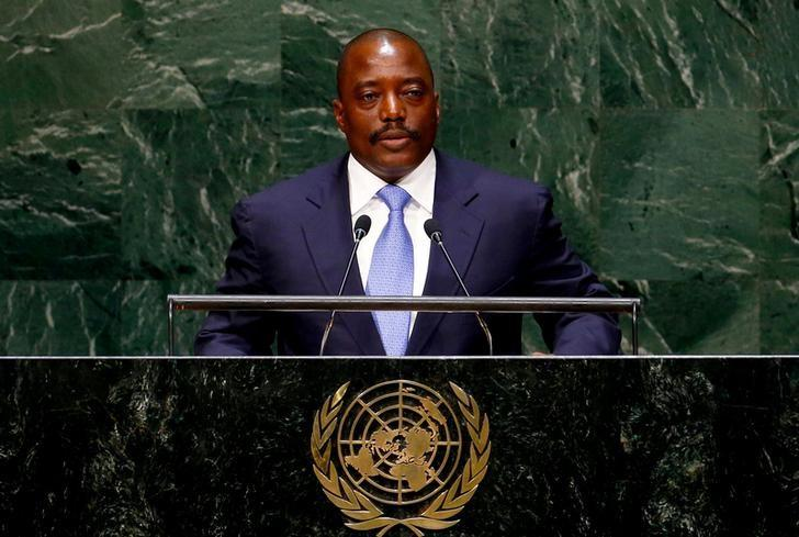 Joseph Kabila, President of the Democratic Republic of the Congo, addresses the 69th United Nations General Assembly at the U.N. headquarters in New York, U.S. September 25, 2014.  REUTERS/Lucas Jackson/Files