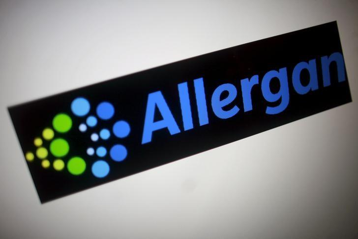 The Allergan logo is seen in this photo illustration November 23, 2015. REUTERS/Thomas White/Illustration/Files