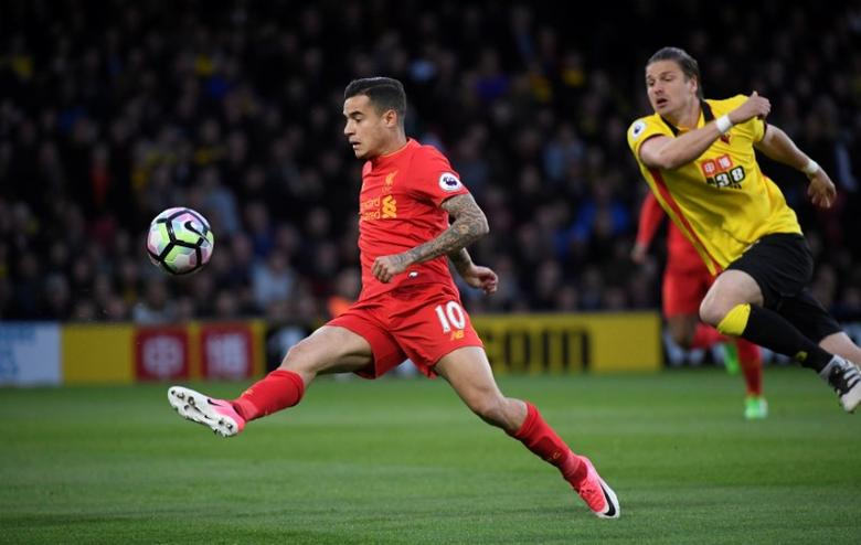 Britain Football Soccer - Watford v Liverpool - Premier League - Vicarage Road - 1/5/17 Liverpool's Philippe Coutinho in actionReuters / Toby Melville Livepic