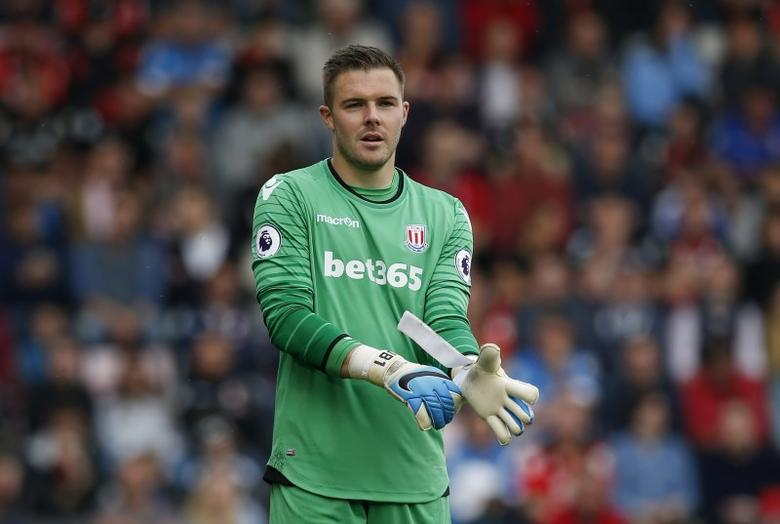 Britain Soccer Football - AFC Bournemouth v Stoke City - Premier League - Vitality Stadium - 6/5/17 Stoke City's Jack Butland  Action Images via Reuters / Andrew Couldridge Livepic