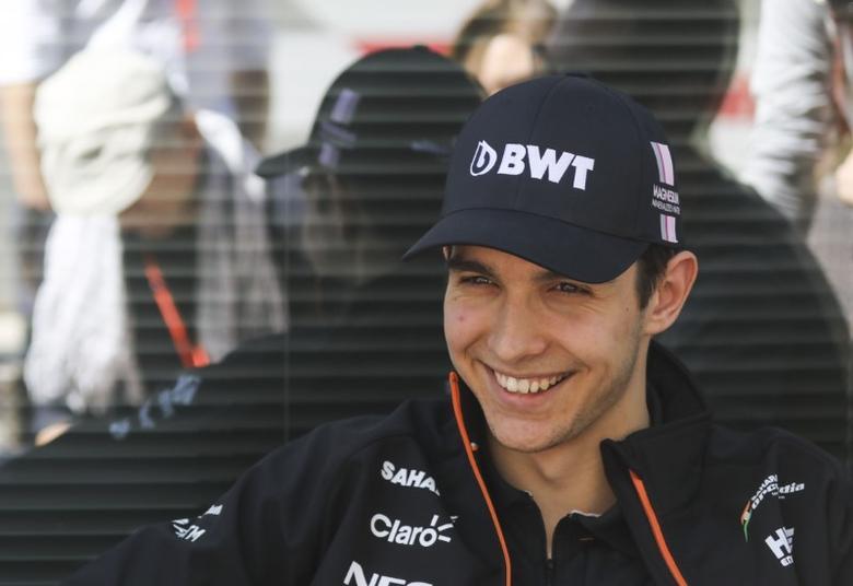 Formula One - F1 - Russian Grand Prix - Sochi, Russia - 27/04/17 - Force India Formula One driver Esteban Ocon of France speaks to the media. REUTERS/Maxim Shemetov