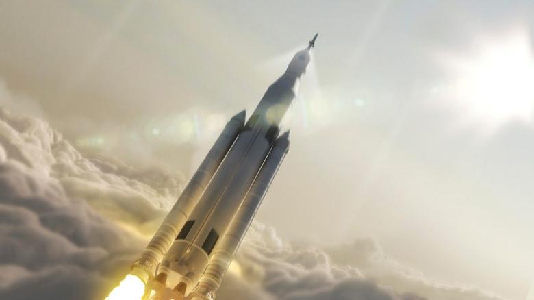 FILE PHOTO: NASA's Space Launch System (SLS) 70-metric-ton configuration is seen launching to space in this undated artist's rendering released August 2, 2014. REUTERS/NASA/MSFC/Handout via REUTERS/File Photo