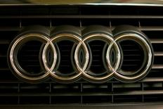 A view shows the logo of Audi on a car in Moscow, Russia, July 6, 2016. REUTERS/Maxim Zmeyev