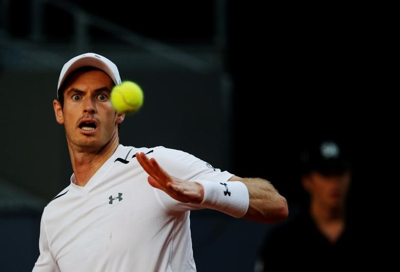 Tennis - ATP 1000 Masters - Madrid Open - Andy Murray of Britain v Marius Copil of Romania  - Madrid, Spain - 9/5/17 - Murray eyes the ball. REUTERS/Susana Vera