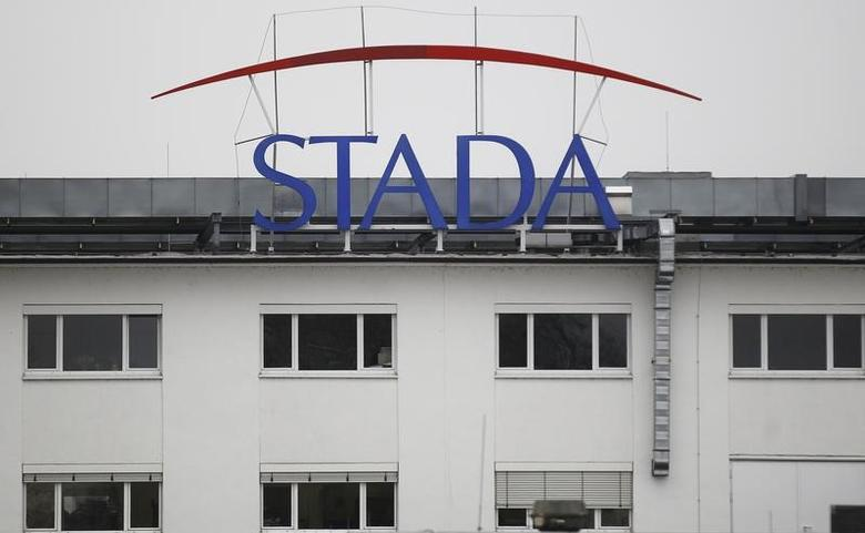 The logo of the pharmaceutical company Stada Arzneimittel AG is pictured at its headquarters in Bad Vilbel near Frankfurt March 14, 2012. REUTERS/Alex Domanski