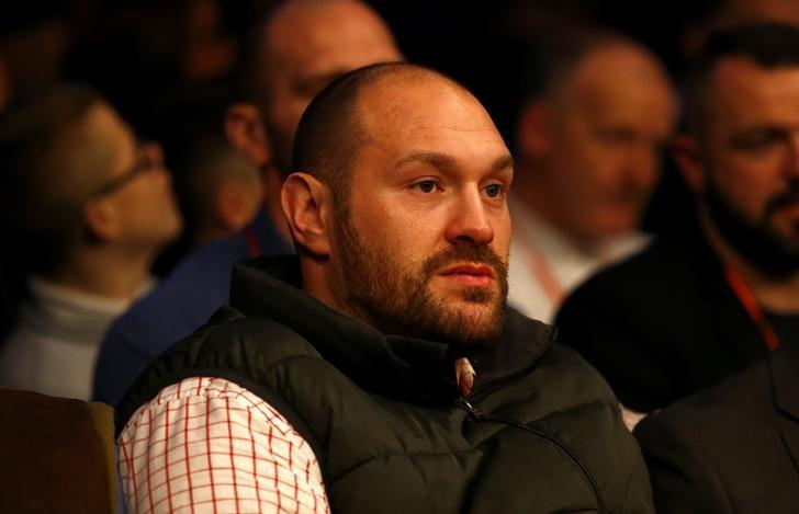 Britain Boxing - Billy Joe Saunders v Artur Akavov WBO World Middleweight Title - Lagoon Leisure Centre, Paisley, Renfrewshire, Scotland - 3/12/16 Tyson Fury in the stands watching the undercard Action Images via Reuters / Peter Cziborra Livepic/Files