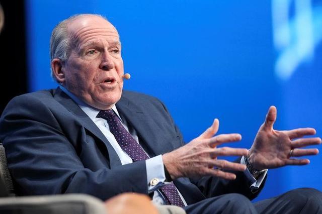 Former CIA Director John Brennan speaks during the SALT conference in Las Vegas, Nevada, U.S. May 18, 2017.  REUTERS/Richard Brian