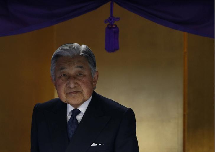 Japanese Emperor Akihito attends a martial art competition celebrating the 130 years of anniversary of the foundation of the Imperial Guard in Tokyo, Japan, January 19, 2017.  REUTERS/Kim Kyung-Hoon/Files